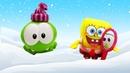 Ам Ням и Спанч Боб выбирают зимнюю шапку. Видео с игрушками для детей.