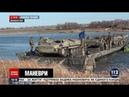 На Донбассе военные учились преодолевать водные преграды