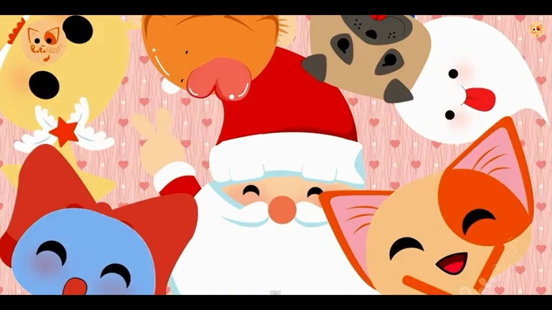 Santa Claus Is Coming To Town - Christmas Xmas Songs English Subtitle - Lala Cat Official