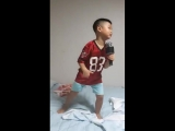 A kid singing MINOs FEAR - he knows all the lyrics well _ future rapper - Minos FEAR appreciated by all ages even after 4 year
