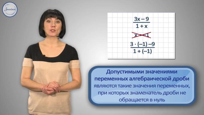 Алгебра 8 Алгебраические дроби Основные понятия