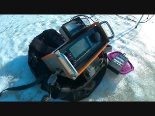 Радиосвязь на льду небольшого озера