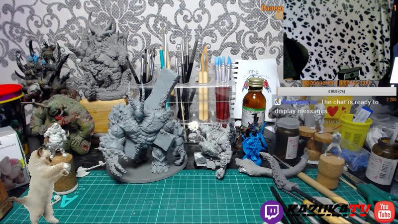 Лепка миниатюр Guild Sculping Custom Miniatures Warhammer Гость Денис Костин