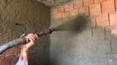 ASE HSP | Çift Pistonlu Kara Sıva Makinesi - Kara Sıva Uygulaması