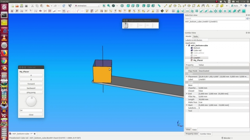 FreeCAD Animation Workbench tutorial 01 - Placer and Manager
