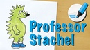 Schlauer Igel: Professor Stachel zeichnen lernen - How to draw a Hedgehog (Cartoon)