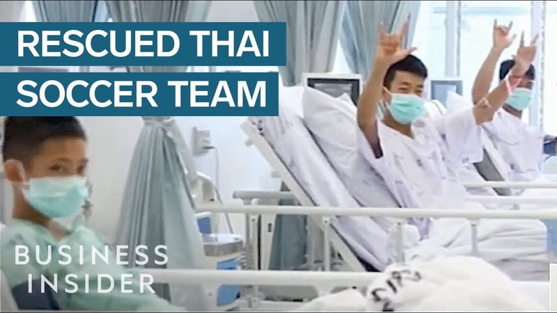 First Video Of Thai Soccer Team Since Their Rescue