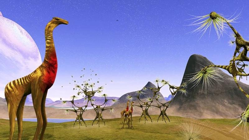 Фантастические животные инопланетного мира