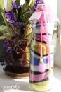 Декорирование бутылки цветной солью