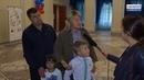 Церемония вручения ранцев первоклассникам на Сарапульском электрогенераторном заводе