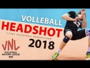 TOP 10 Volleyball Headshot. Balls to the Face. VNL 2018.