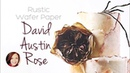 How to make a David Austin Rose with Wafer Paper CAKE DECORATING Dozycakes
