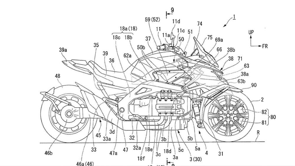 Компания Honda планирует трицикл с мотором Gold Wing?!
