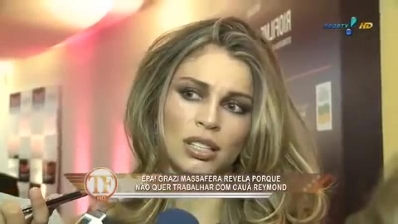 TV Fama Grazi revela que não gostaria de atuar com Cauã Reymond