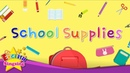 Kids vocabulary School Supplies Learn English for kids English educational video