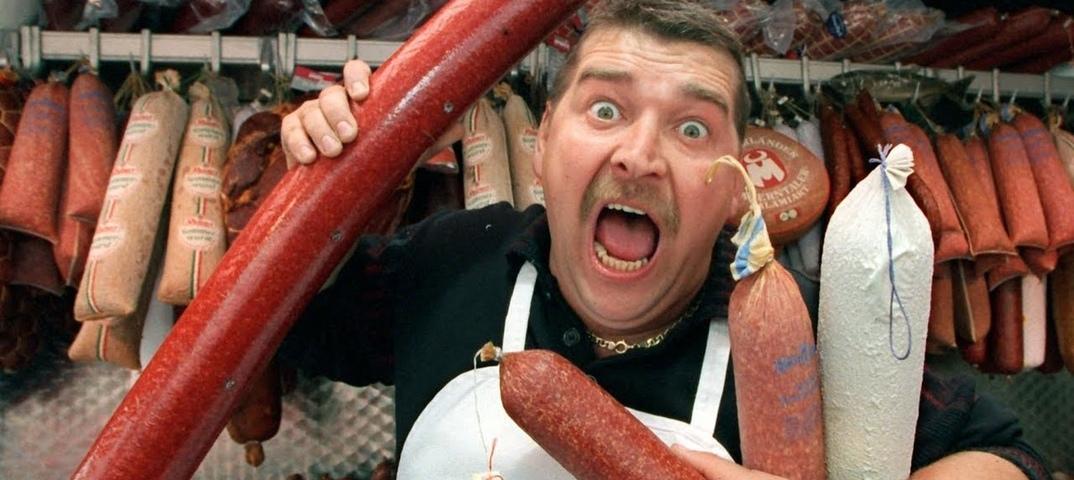 Смешные картинки продавец колбасой