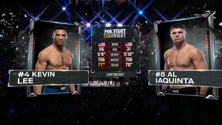 UFC FOX 31 Кевин Ли — Эл Яквинта