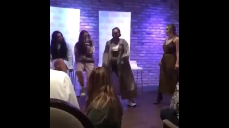 Leigh dancing at an events organized by @RaysofSunshine