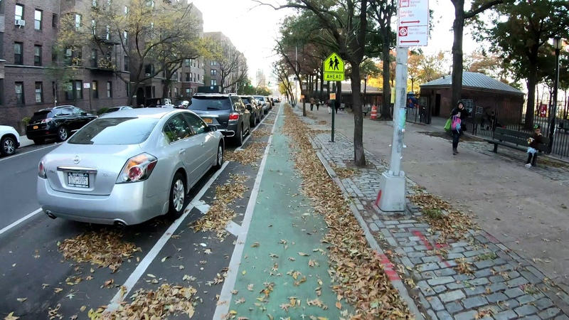 ⁴ᴷ⁶⁰ Cycling Skillman Avenue Bike Lane in Long Island City Sunnyside to Queens Blvd (Westbound)