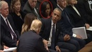 Trump Offers His Hand To Michelle Americans Cringe As She Goes LOW At Bush F uneral