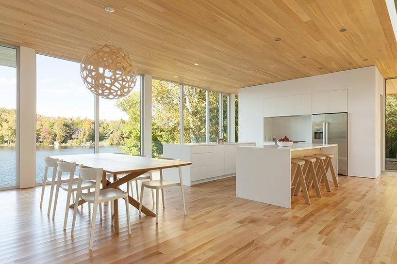 Atelier Pierre Thibault дом на озере в Канаде