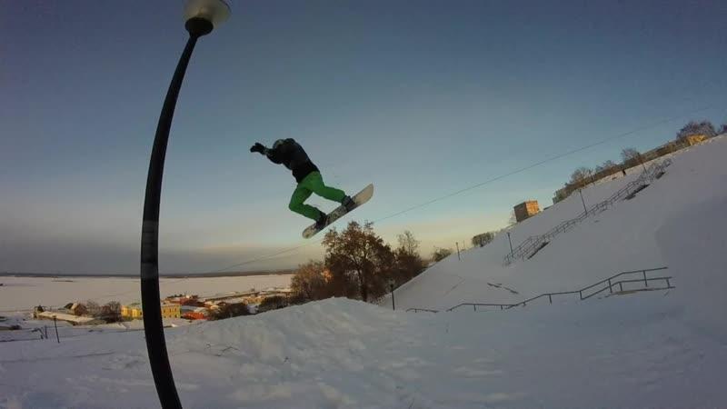 Snowboard freestyle @Набережная Федоровского Нижний Новгород
