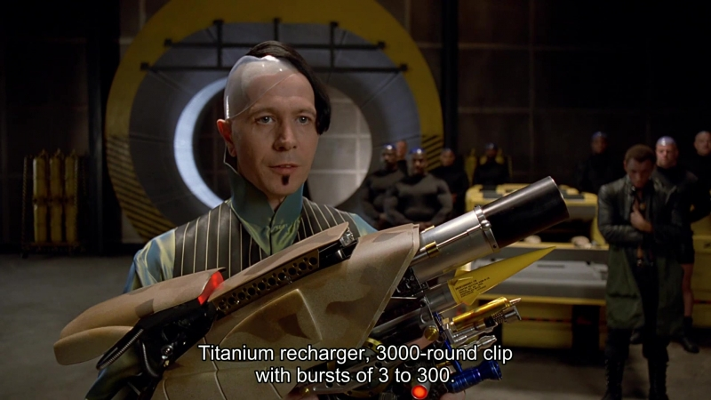 Gary Oldman presents Zorg ZF-1 Pod Weapon System in The Fifth Element (1997) Open Matte version 1080p