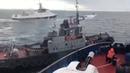 Переговоры кораблей РФ которые совершили таран рейдового буксира ВСУ Видео тарана