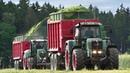 CLAAS JAGUAR 940 | 6x Tractors Fendt in action - Chopping Rye