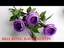 Hướng dẫn cách tự làm Hoa Hồng David Austin bằng giấy nhún ❀ DiyBigBoom VN