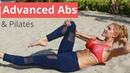 Rebecca Louise Advanced Pilates Abs Workout Тренировка для живота и талии на полу