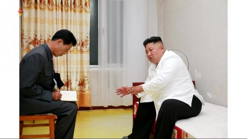 경애하는 최고령도자 김정은동지께서 온포휴양소를 현지지도하시였다