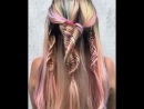 Видео урок спиральной косички