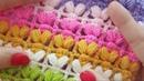 Kutu Kalp Lif, Battaniye / Crochet Puff Stitch Blanket