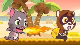 ГОВОРЯЩИЙ ТОМ БЕГ ЗА СЛАДОСТЯМИ 15 ДРУЗЬЯ Анжела Бен и Джинджер игровой мультик для детей Candy Run