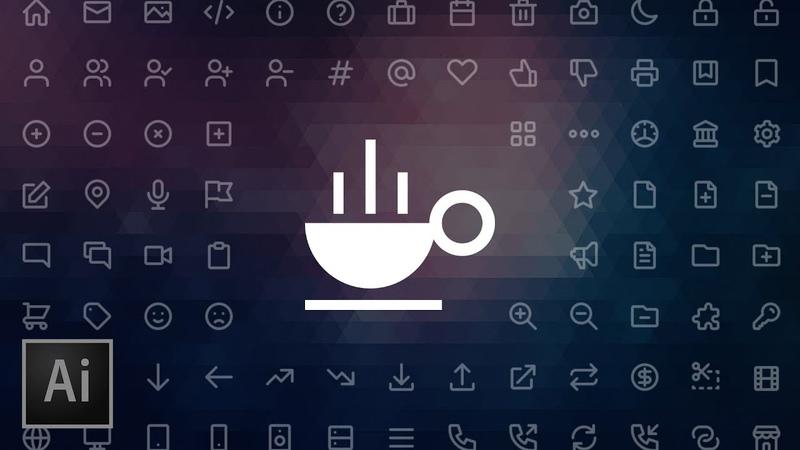 Create an Icon Coffee Cup | Adobe Illustrator Beginner Tutorial