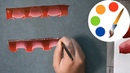Easy way to paint Creases on fabric Painting by a flat brush