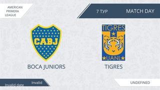 AFL19. America. Primera. Day 7. Boca Juniors - Tigres.