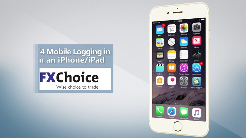 Logging in to your MT4 account with an iPhone/iPad