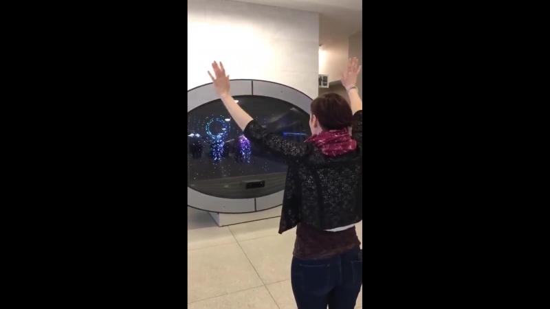 Nathan West publicou este vídeo de Chyler Leigh em seu Instagram Stories.