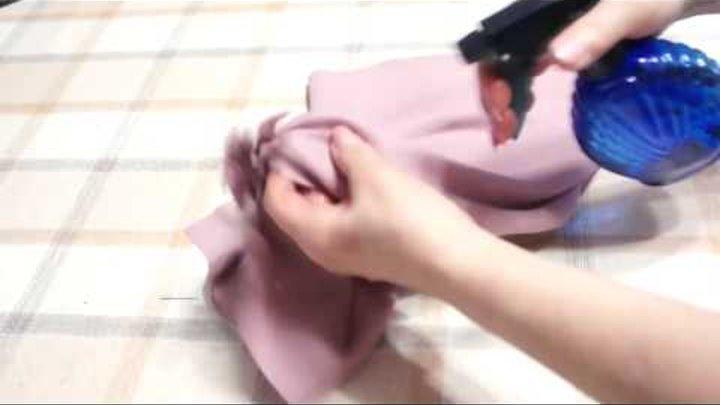 Как обработать низ косой юбки
