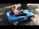 Little girl park her corvette like a boss