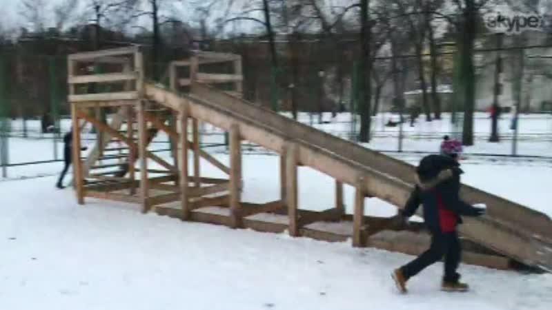 Горка в Овсянниковском саду