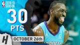 Kemba Walker Full Highlights Hornets vs Bulls 2018.10.26 - 30 Pts, 7 Ast in 3 Qtrs!