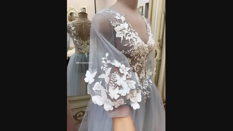 Будуарное платье с бабочками✨