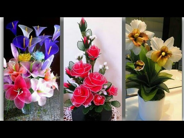 Beautiful stocking Net Flowers/ stylish stocking Net Flower Arrangement