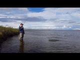 Вываживание норвежской озерной форели на Favorite Synapse 702 ML