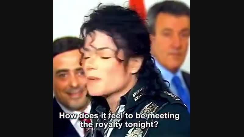 Michael meets Princess Diana. Wembley Stadium in London, on July 16th, 1988