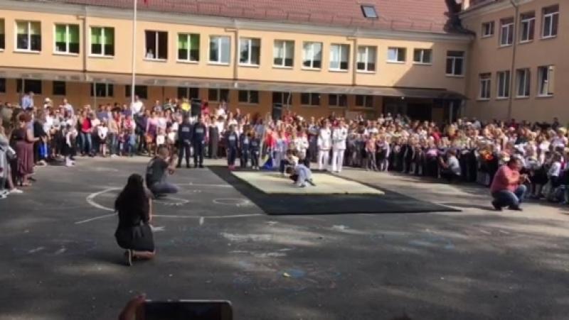 1 сентября 2018. выступление клуба рукапошного боя Добрыня