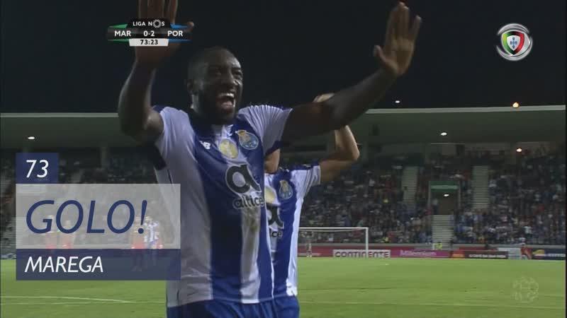 Гол Мареги (73 минута, Маритиму – Порту 0:2)